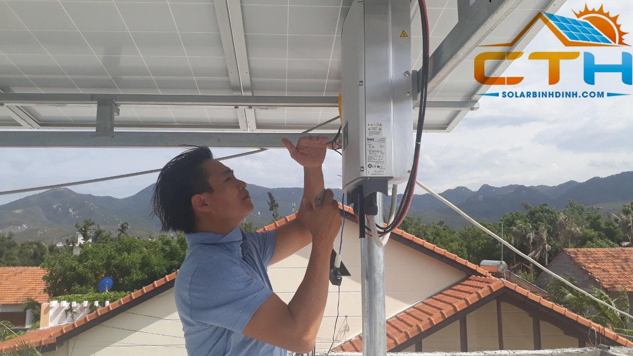 Thi công Điện Mặt Trời tại Nhà Hàng Mỹ A – Ninh Hoà – Nha Trang