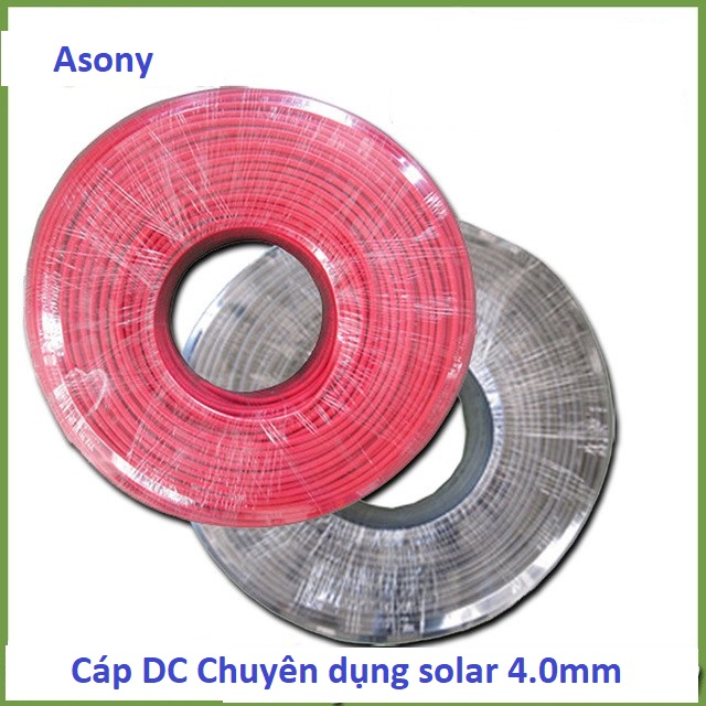 Cáp Solar DC 4.0mm chuyên dùng cho Pin Mặt Trời