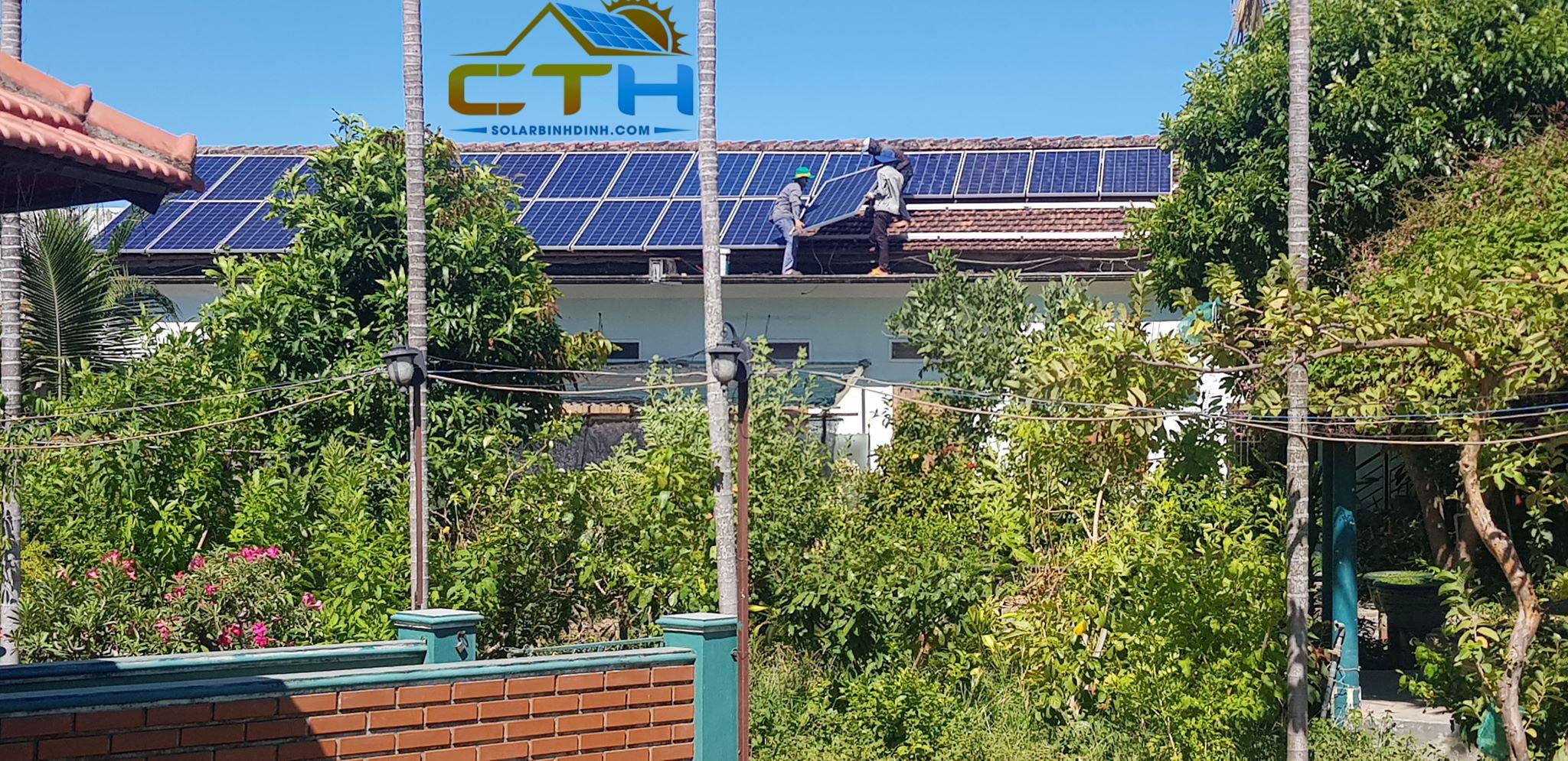 Thi công Điện Mặt Trời áp mái tại TP Quy Nhơn – Bình Định